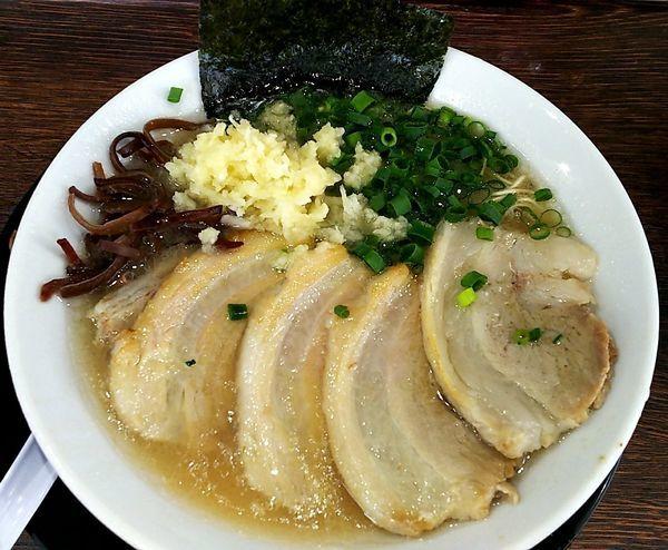 「ネギチャーシュー麺 ニンニク」@博多長浜らーめん 楓神の写真