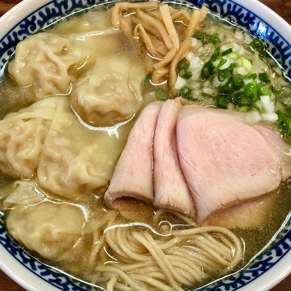 「【限定】アゴ出汁海老雲呑麺 塩」@良温(Ra-on)の写真