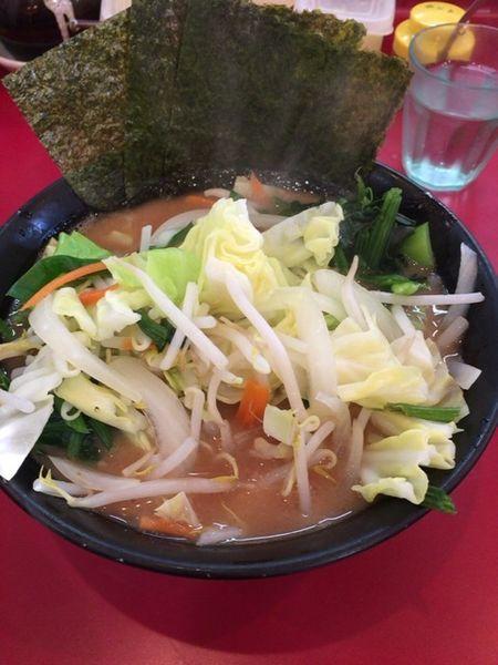 「並 野菜 青菜増し 油少なめ」@杉田家 千葉店の写真