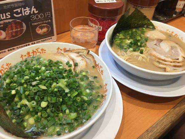 「ラーメン+ネギ」@九州大分らぁめん たまがった 神奈川新町本店の写真
