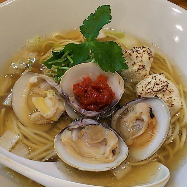 「【限定】ハマグリ出汁の醤油らーめんfeat.〆の雑炊」@らーめん カッパハウスの写真