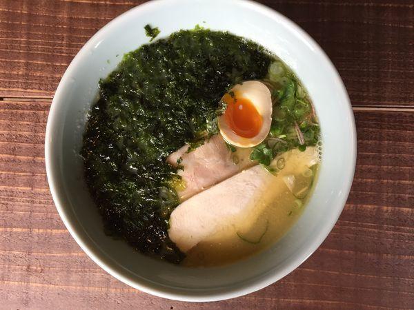 「海苔ラーメン+唐揚げセット」@ひとはな亭の写真