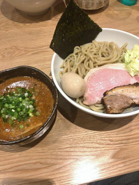 「96特製濃厚辛つけ麺¥1.250」@自家製麺ばくばくの写真