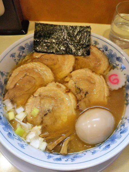 「チャーシュー麺1050円+味玉100円」@東池袋大勝軒 木更津店の写真