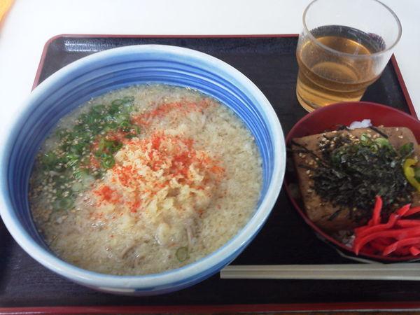 「たぬきそば470+豆腐めしs210=680円」@白河そばの写真