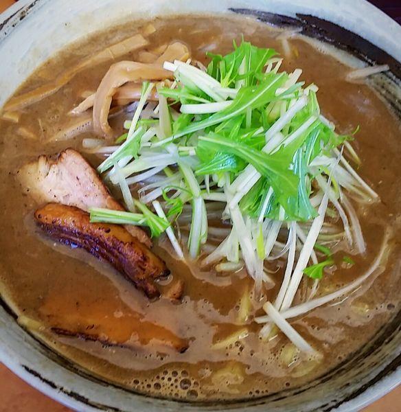 「濃厚魚介豚骨ラーメン 800円」@麺屋ひさご なり助の写真
