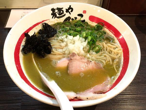 「浅利香味そば+生姜替え玉(ハーフ)」@麺や でこの写真