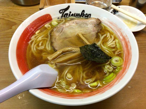「日本酒(國盛)+ラーメン・太麺」@中野大勝軒の写真