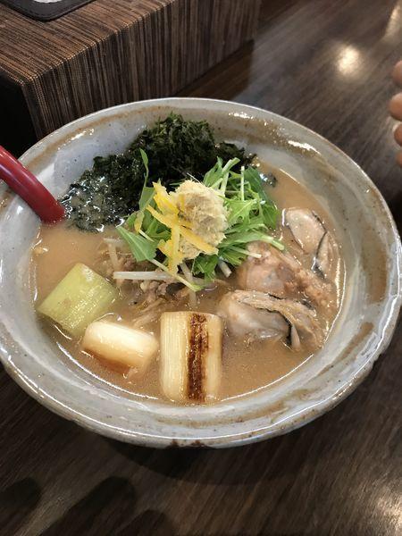 「【限定】牡蠣味噌らーめん」@味噌専門麺屋大河の写真