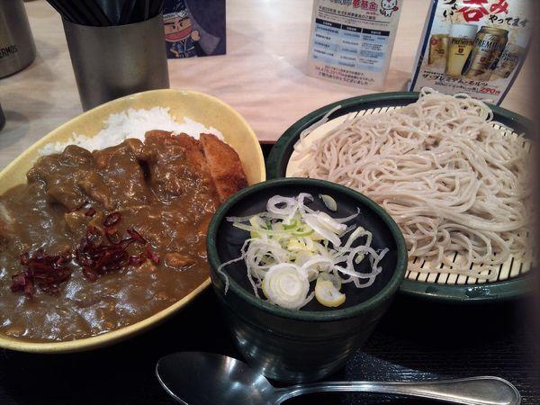 「満腹カツカレーセット(冷たいおそば)」@ゆで太郎 淡路町店の写真