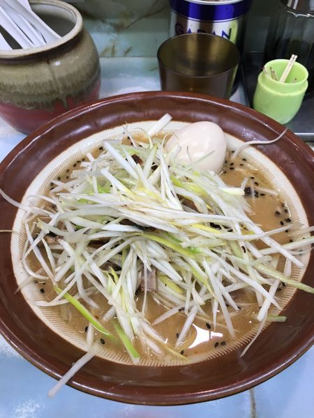 「ネギ味噌らーめん(味玉):950円」@ラーメン 丸仙の写真