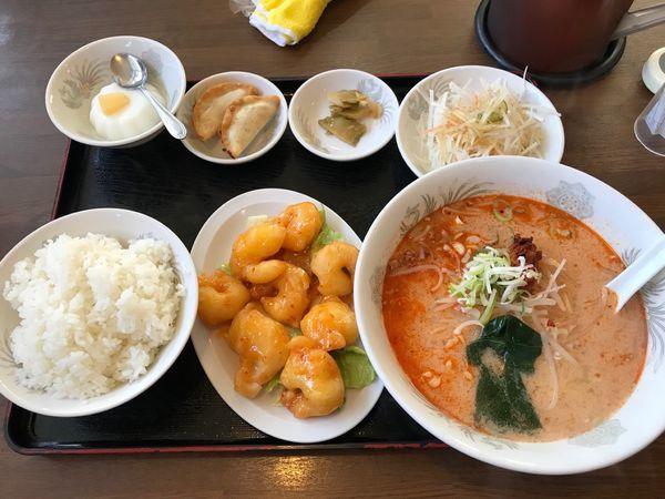 「エビマヨ 担々麺」@長城飯店の写真
