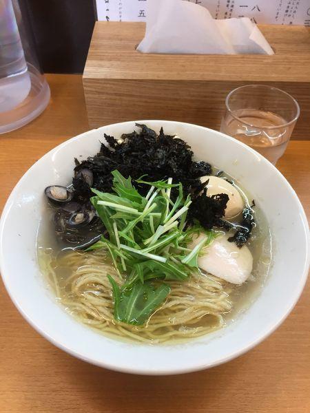 「しじみとばら海苔の磯塩そば」@麺処ろくめいの写真