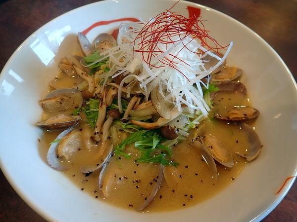 「ボンゴレ・ビアンコ・中細麺」@麺厨房 維風堂々の写真