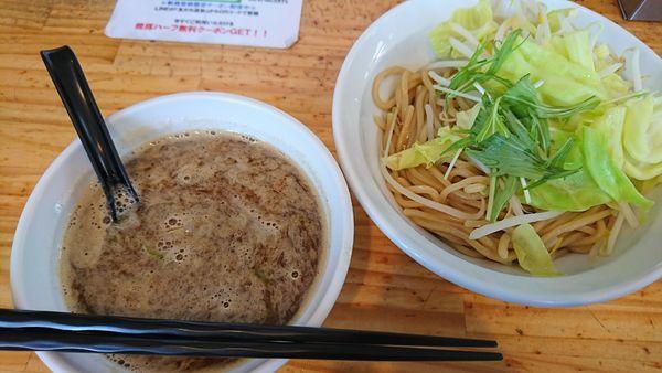 「濃厚つけ麺(野菜まし)」@つけ麺二代目いさおの写真