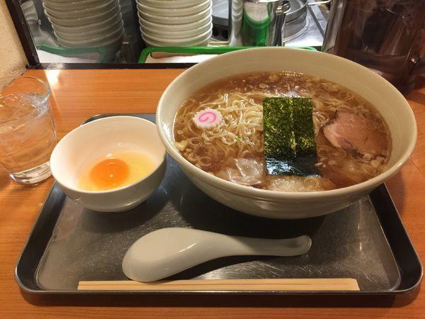 「ワンタン麺卵つき」@日吉 大勝軒の写真