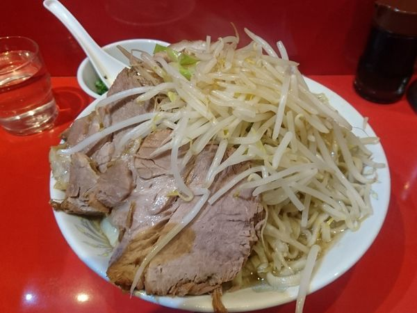 「大ラーメン W豚 野菜 ニンニク」@ラーメン二郎 西台駅前店の写真
