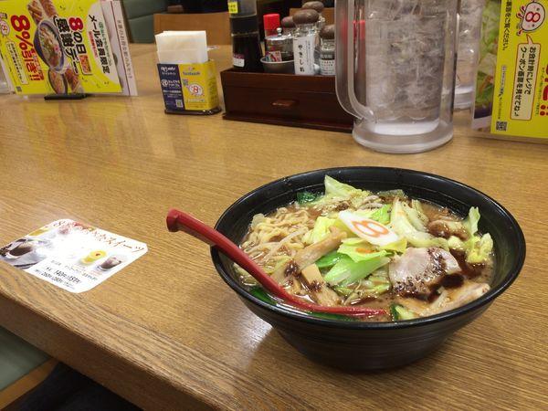 「野菜こく旨らーめん」@8番らーめん 金沢駅店の写真