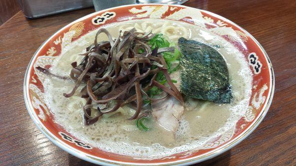 「濃厚ラーメン(太麺)780円」@ラーメンかなやの写真