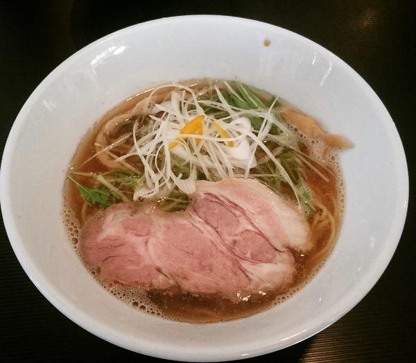 「【土曜限定】淡麗煮干拉麺(醤油) 780円」@拉麺 阿吽の写真