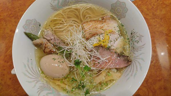 「塩そば+味玉(twitterサービス)」@和風鶏そば kouseiの写真