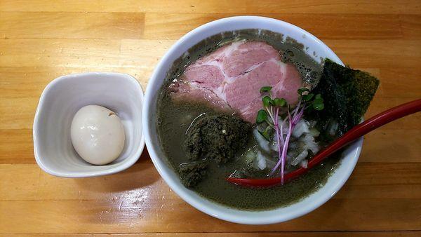「ヤバニボ+味たま+煮干し愛&和え玉」@めんや天夢の写真