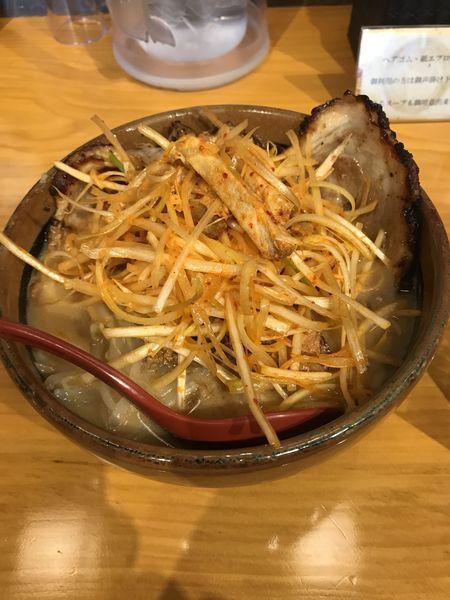 「味噌漬け炙りチャーシュー麺」@麺場 田所商店 足立江北店の写真
