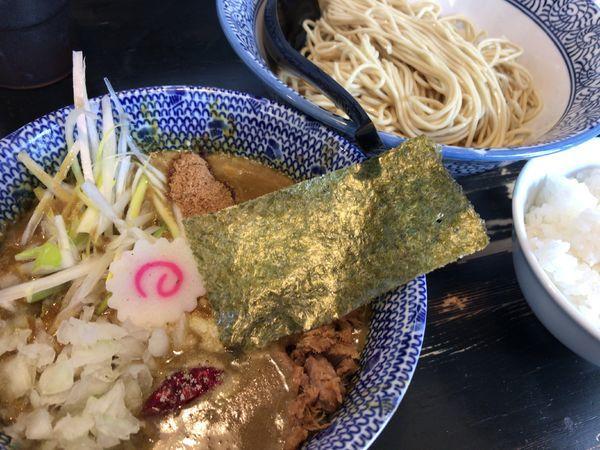 「かれつけ 細麺に変更 とろけるチーズ 白めし」@狼煙 〜NOROSHI〜の写真
