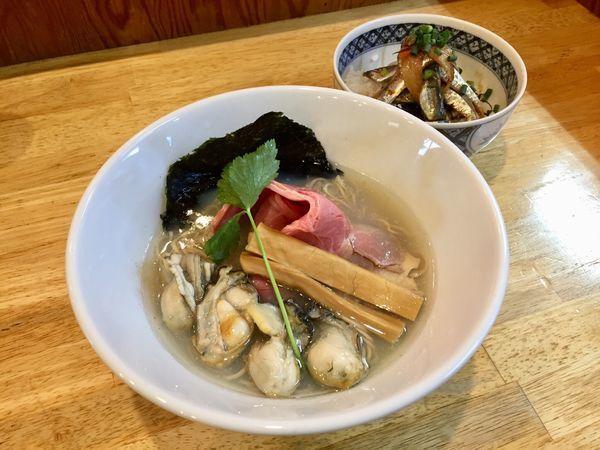 「カキそば」@寿製麺よしかわ 坂戸店の写真