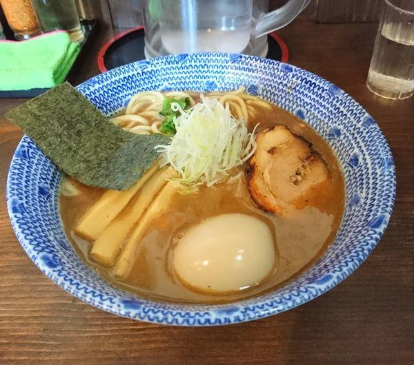 「節そば 味玉」@麺屋たつみ 喜心 秩父店の写真