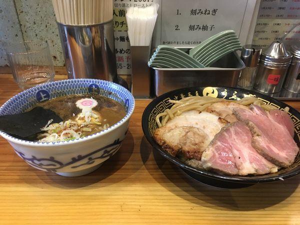 「特製つけ麺(並)あつもり」@中華蕎麦うゑずの写真