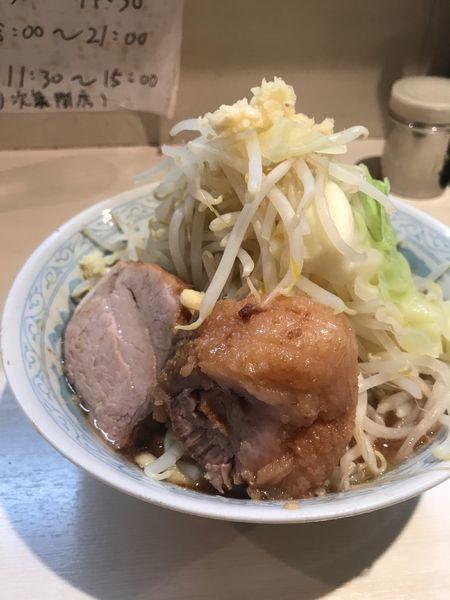 「ラーメン 少なめ ヤサイマシ 700円」@らーめん 陸 尾山台店の写真