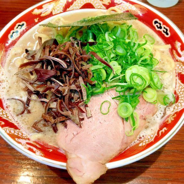 「濃厚ラーメン太麺の大盛り」@ラーメンかなやの写真