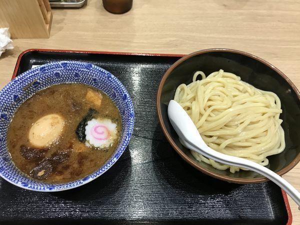 「味玉濃厚豚骨魚介つけ麺」@三竹寿 本店の写真