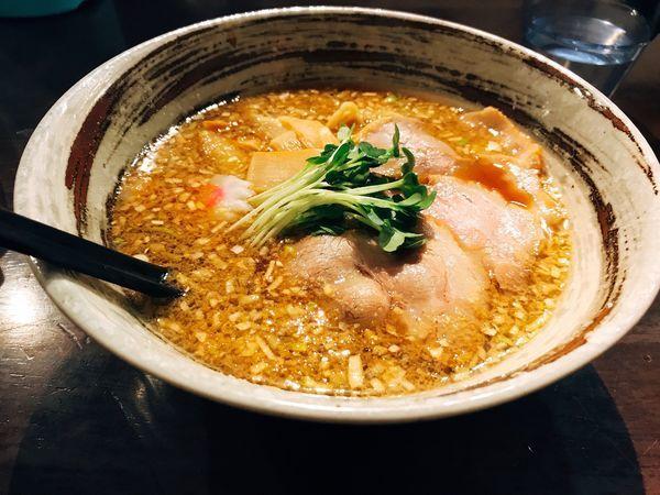 「特製中華そば&サービス唐揚げ+替玉」@大杉製麺の写真
