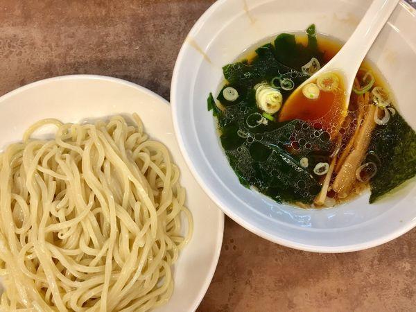 「つけ麺640円+餃子370円」@風神 品川店の写真