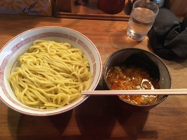 「辛味つけ麺中盛 780円」@つけ麺屋 やすべえ 高田馬場店の写真