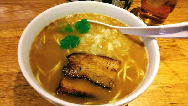 「鬼煮干とげんげのコラーゲン煮干そば」@煮干し中華そば三四郎の写真