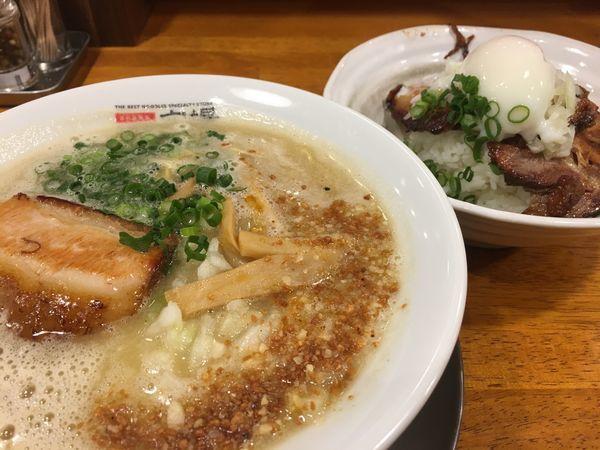 「ニンニクパンチ醤油」@極上拉麺専門店 穴場の写真