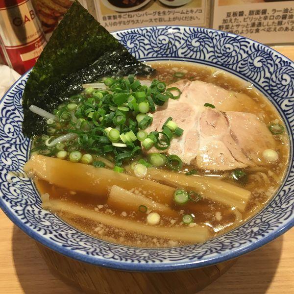 「醤油ラーメン えびめしセット」@ラーメン西本の写真