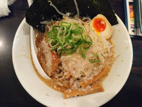 「環七もやし(脂多め)」@環七ラーメン 周麺の写真