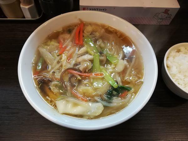 「2/28野菜あんかけ麺800円+ライス付50円」@まえたんの写真