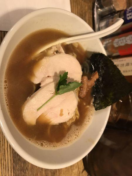 「烏賊干し鶏白湯醤油ラーメン」@新橋 纏の写真