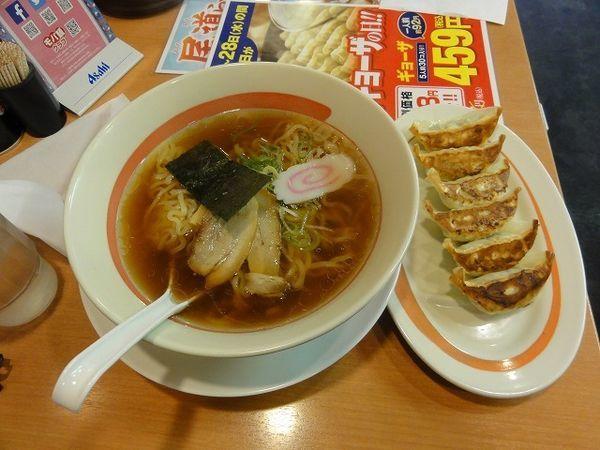 「ラーメン 餃子」@幸楽苑 平河町店の写真