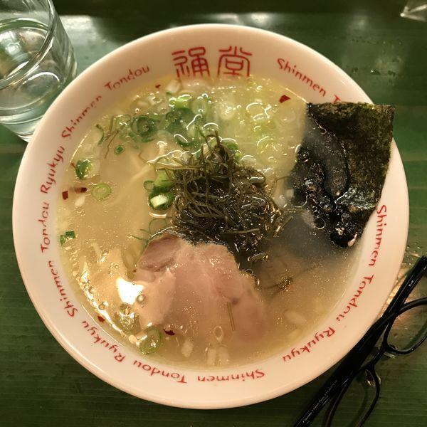 「ミニ通堂うま塩ラーメンおんな味」@居酒屋 りょう次 横浜ラーメン博物館店の写真