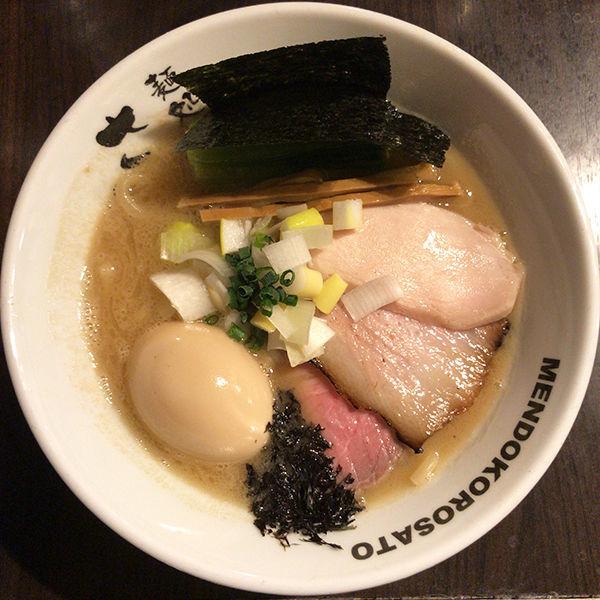 「特製濃厚魚介豚骨ラーメン(太麺)」@麺処 さとう 桜新町店の写真