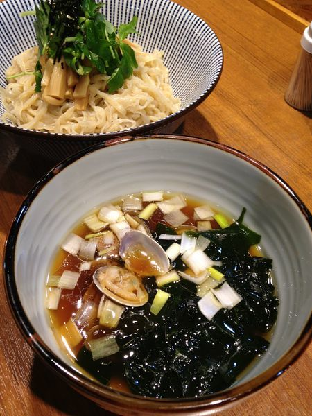 「【限定】あさりと新わかめのつけそば 850円」@寿製麺よしかわ 川越店の写真