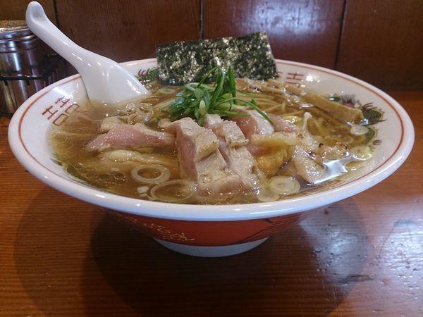 「雉と地鶏の醤油そば+雉の胸肉のたたき」@麺処 ほん田の写真