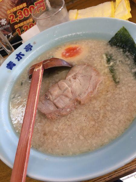 「らーめん(小) 麺半分ネギ抜き」@ラーメン青木亭 川口店の写真