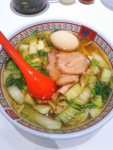 「煮玉子ラーメン 700円」@どうとんぼり神座 AMASTAAMASEN店の写真